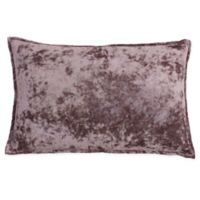 Thro Iliana Ice Velvet Square Throw Pillow in Purple