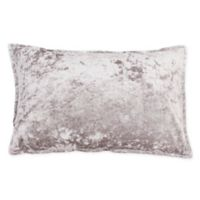 Thro Iliana Ice Velvet Square Throw Pillow in Silver