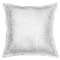 Thro Gladis Crackle Square Throw Pillow in Light Silver