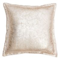 Thro Gladis Crackle Square Throw Pillow in Light Gold