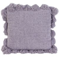 Thro Cecelia Chenille Square Throw Pillow in Light Purple