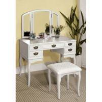 Kensie Traditional Vanity Set in White