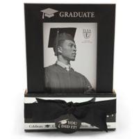Elsa L Graduate 4-Inch x 6-Inch Frame in Black (Set of 2)