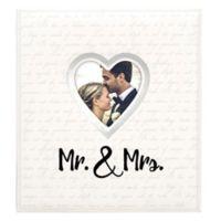 """Malden """"Mr. & Mrs."""" 400-Photo Heart Wedding Photo Album in Silver"""