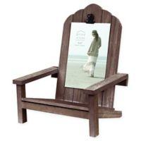 Prinz Adirondack Chair 4-Inch x 6-Inch Photo Clip Frame in Brown