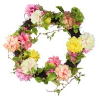22-Inch Mum & Wild Blossom Floral Wreath