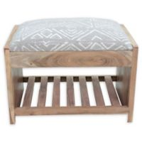 Ren-wil Cotton Upholstered Milas Bench in Taupe/natural