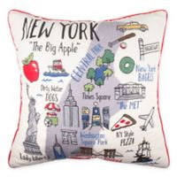 NYC Regional Square Throw Pillow