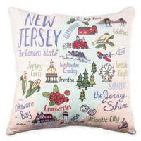 NJ Regional Square Throw Pillow