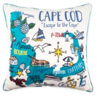 Cape Cod Regional Square Throw Pillow