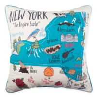 New York State Regional Square Throw Pillow