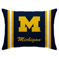 University of Michigan Rectangular Microplush Standard Bed Pillow