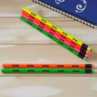 Assorted Neon Personalized Pencil Set of 12
