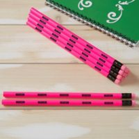 Neon Pink Personalized Pencil Set of 12