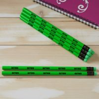 Neon Green Personalized Pencil Set of 12