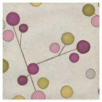 Molecular Blossom II 14-Inch Square Canvas Wall Art