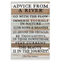 "Sweet Bird & Co. 12-Inch x 18-Inch ""Advice From A River"" Wood Wall Art"