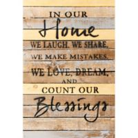 Sweet Bird & Co. Count Our Blessings 12-Inch x 18-Inch Reclaimed Wood Wall Art