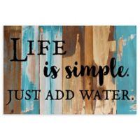 "Sweet Bird & Co. 18-Inch x 12-Inch ""Life Is Simple"" Wood Wall Art"
