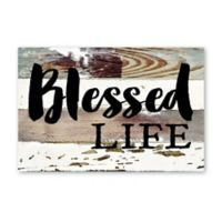 Sweet Bird & Co. Blessed Life Reclaimed Wood Wall Art