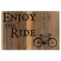 "Sweet Bird & Co. ""Enjoy The Ride"" Reclaimed Wood Wall Art"