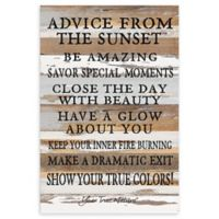 Sweet Bird & Co. Advice From The Sunset Reclaimed Wood Wall Art