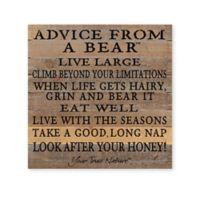 Sweet Bird & Co. Advice From A Bear Reclaimed Wood Wall Art