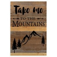 Sweet Bird & Co. Take Me To The Mountains Reclaimed Wood Wall Art