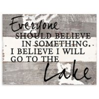 Sweet Bird & Co. Everyone Should Believe In Something Reclaimed Wood Wall Art