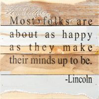 "Sweet Bird & Co. ""Make Their Minds Up"" Square Wooden Wall Art in Blue/Grey"