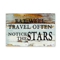 Sweet Bird & Co. Eat Well Travel Often 8-Inch x 12-Inch Wood Wall Art