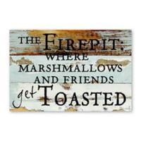 "Sweet Bird & Co. ""The Firepit"" 8-Inch x 12-Inch Reclaimed Wood Wall Art"
