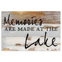 "Sweet Bird & Co. ""Memories Are Made"" 12-Inch x 8-Inch Wood Wall Art"