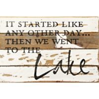 "Sweet Bird & Co. ""Like Any Other Day"" Rectangular Wooden Wall Art in Silver/White"