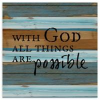 "Sweet Bird & Co. ""All Things Possible"" 12-Inch Square Wood Wall Art"