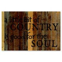 Sweet Bird & Co. A Little Bit of Country 12-Inch x 18-Inch Wood Wall Art