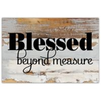 "Sweet Bird & Co. ""Blessed Beyond"" 12-Inch x 8-Inch Wood Wall Art"
