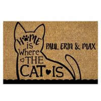 """Home Is Where The Cat Is"" 18"" x 27"" Door Mat"