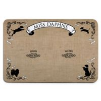 Personalized Planet French Motif Meal Mat in Brown