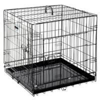 """Pet Trex 24"""" 2-Door Crate-N-Kennel Pet Crate in Black"""