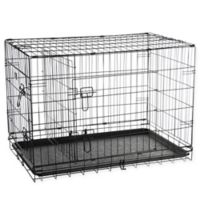 Pet Trex 36-Inch Two-Door Pet Crate in Black