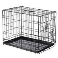 Pet Trex 24-Inch Portable Two-Door Pet Kennel in Black