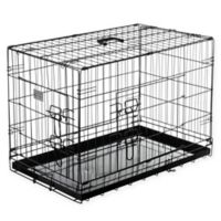 Pet Trex 30-Inch Two-Door Pet Crate in Black