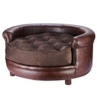 Chesterfield Pet Bed in Brown