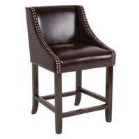 """Flash Furniture Faux Leather Upholstered Carmel 36"""" Bar Stool in Brown"""