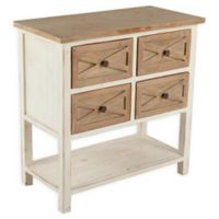 Winsome Home Rustic 4-Drawer Console Cabinet in Off White