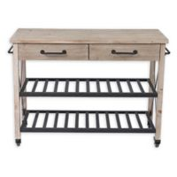 Winsome Home 2-Drawer Kitchen Cart in Natural