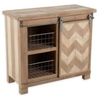 Winsome Home Sliding Door Console Cabinet in Natural