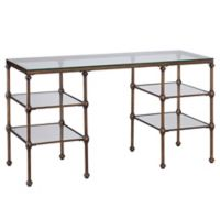 Southern Enterprises Thornton Glass Writing Desk