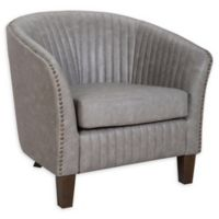 Lumisource® Faux Leather Upholstered Shelton Chair in Light Grey